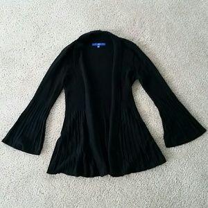 Apt.9 Black Bell Sleeve Open Knit Cardigan